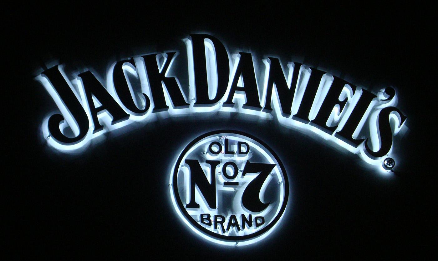 ป้าย Jack Daniel's ป้ายไฟออกหลัง ป้ายร้าน